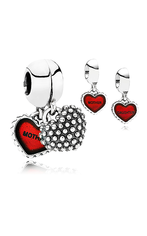 PANDORA Piece Of My Heart Daughter Red Enamel Dangle Charm 790950EN27 product image