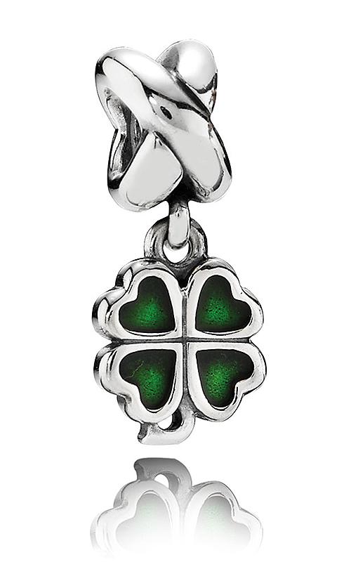 PANDORA Four-Leaf Clover Green Enamel Dangle Charm 790572EN25 product image
