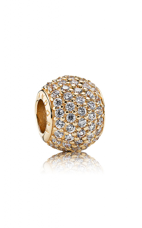 PANDORA Pavé Lights Clear CZ & 14K Gold Charm 750819CZ product image