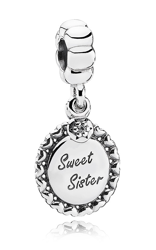 PANDORA Sweet Sister Clear CZ Dangle Charm 791126CZ product image