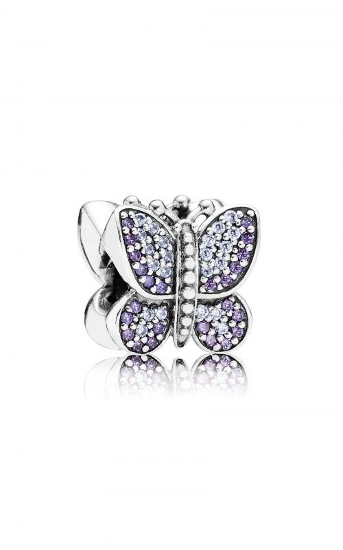 PANDORA Sparkling Butterfly, Purple CZ Charm 791257ACZ product image
