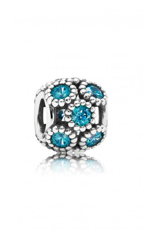PANDORA Studded Lights Teal CZ Charm 791296MCZ (Retired) product image