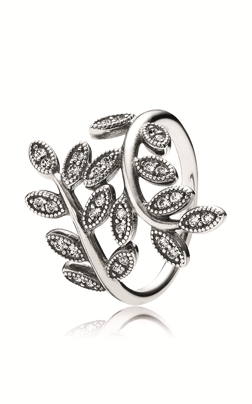PANDORA Sparkling Leaves Ring, Clear CZ 190921CZ-48 product image
