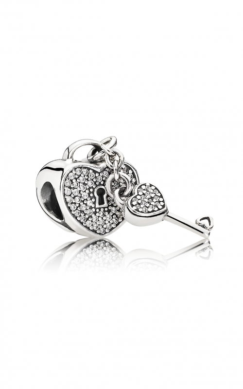 PANDORA Lock Of Love Clear CZ Charm 791429CZ product image