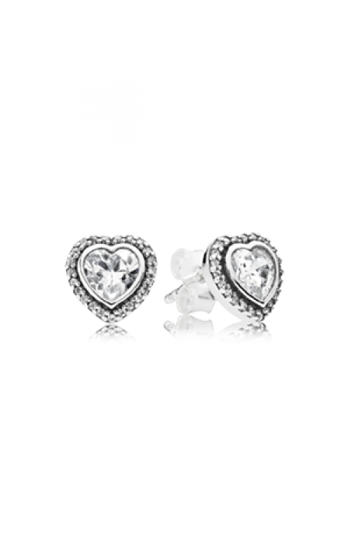 Pandora Sparkling Love Clear CZ Earrings 290568CZ product image