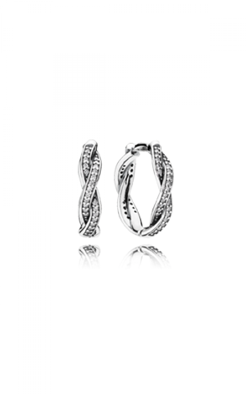 PANDORA Twist Of Fate Earrings Clear CZ Earrings 290576CZ product image