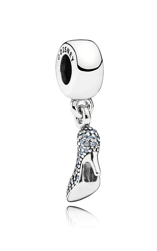 Pandora Disney Cinderella Sparkling Slipper Dangle Charm Fancy Light Blue CZ 791470CFL product image