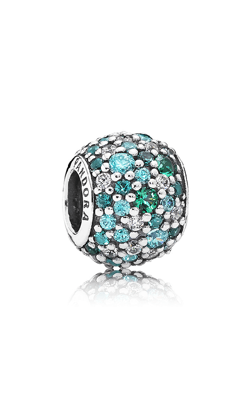 PANDORA Ocean Mosaic Pave Mixed Green CZ & Green Crystal Charm 791261MCZMX product image