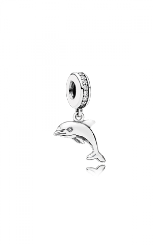 PANDORA Playful Dolphin Dangle Charm Clear CZ 791541CZ product image