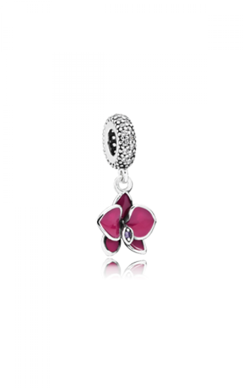 PANDORA Orchid Dangle Charm CZ & Radiant Orchid-Colored Enamel 791554EN69 product image