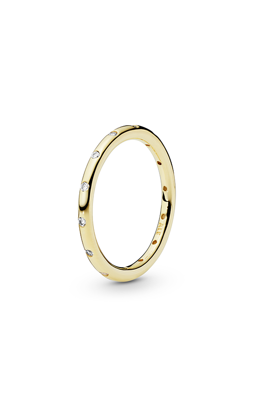 Pandora Droplets Stackable Ring, Polished 14K Gold & CZ 150178CZ-50 product image