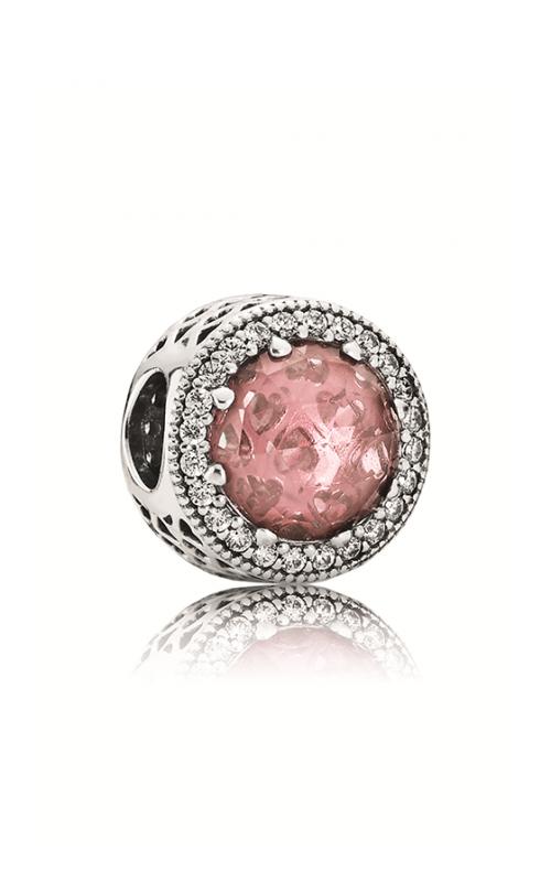 PANDORA Radiant Hearts Blush Pink Crystal & Clear CZ Charm 791725NBP product image
