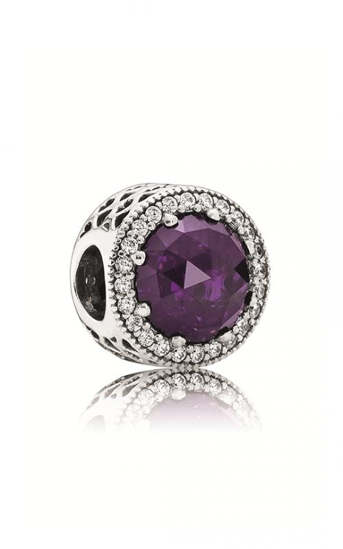 Pandora Radiant Hearts Royal Purple Crystal & Clear CZ Charm 791725NRP product image