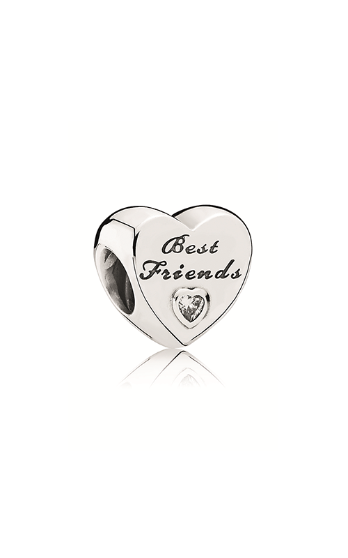 Pandora Friendship Heart Clear CZ Charm 791727CZ product image