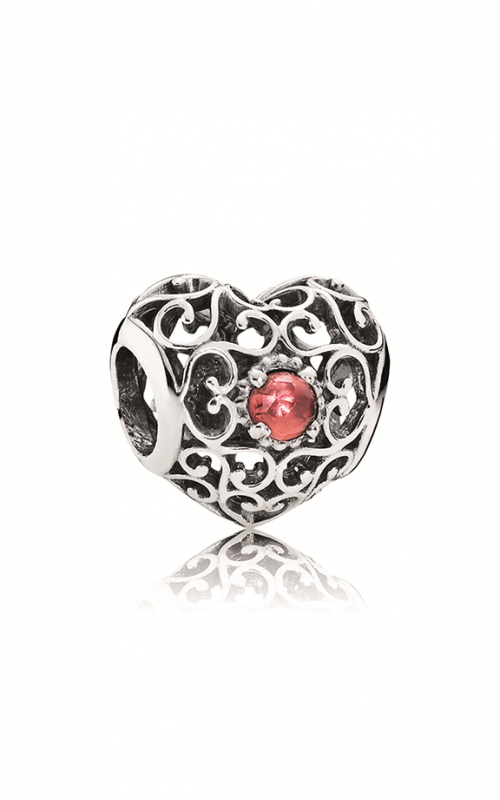 Pandora January Signature Heart Charm Garnet 791784GR product image
