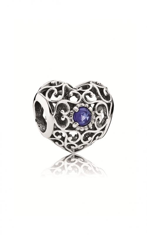Pandora September Signature Heart Charm Synthetic Sapphire 791784SSA product image