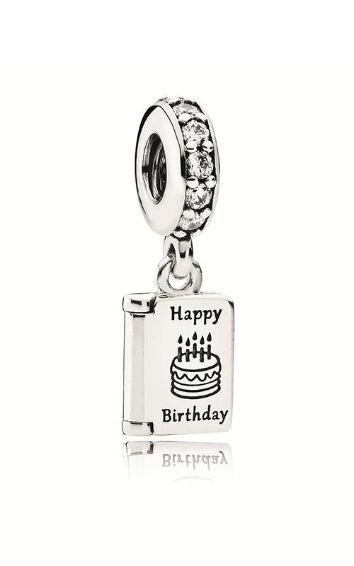 PANDORA Birthday Wishes Dangle Charm Clear CZ 791723CZ product image