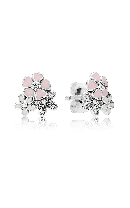 PANDORA Poetic Blooms Mixed Enamels & Clear CZ Earrings 290686ENMX product image