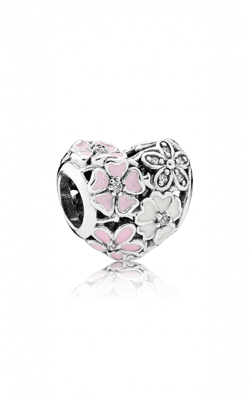 PANDORA Poetic Blooms Mixed Enamels & Clear CZ Charm 791825ENMX product image