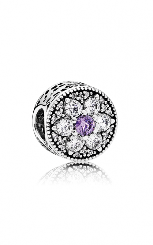 Pandora Forget Me Not Charm Purple & Clear CZ 791832ACZ product image