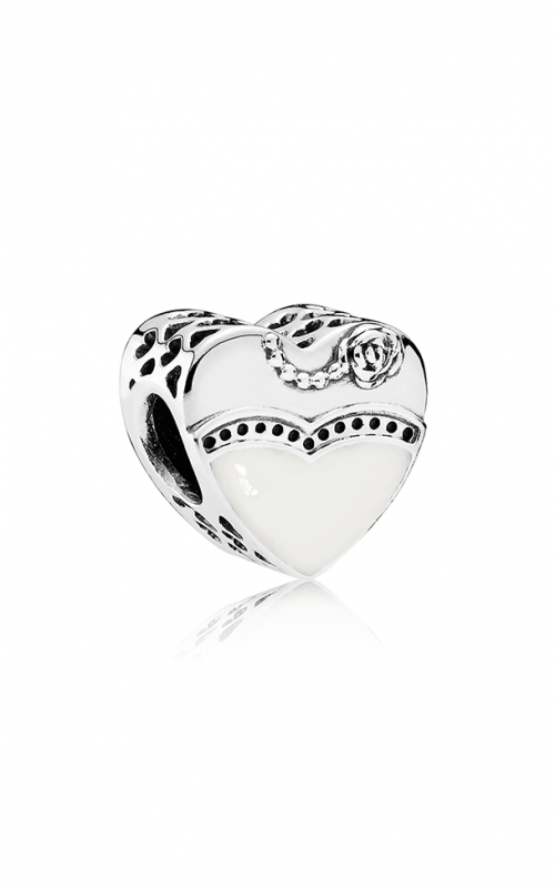 PANDORA Our Special Day Charm Black & White Enamel 791840ENMX product image