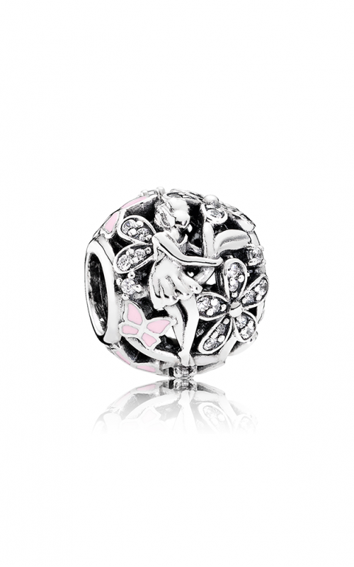 PANDORA Dazzling Daisy Fairy Light Pink Enamel & Clear CZ 791841EN68 product image