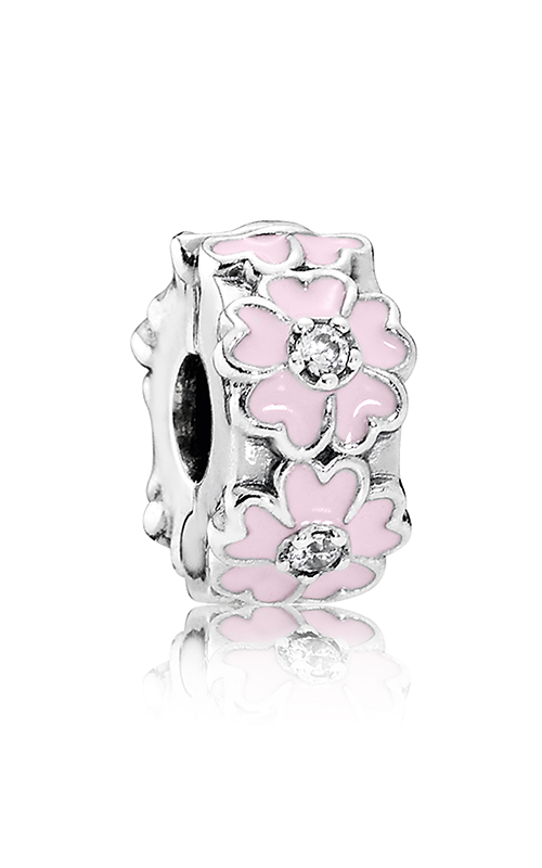 PANDORA Pink Primrose Clip Light Pink Enamel & Clear CZ 791823EN68 product image