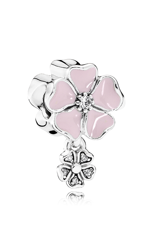 PANDORA Poetic Blooms Soft Pink Enamel & Clear CZ Charm 791827EN40 product image
