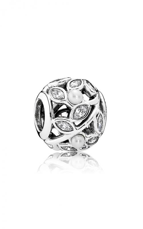PANDORA Luminous Leaves White Pearl & Clear CZ 791754P product image