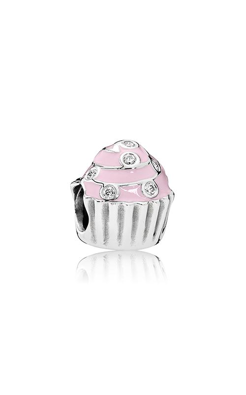 PANDORA Sweet Cupcake Charm Light Pink Enamel & Clear CZ 791891EN68 product image