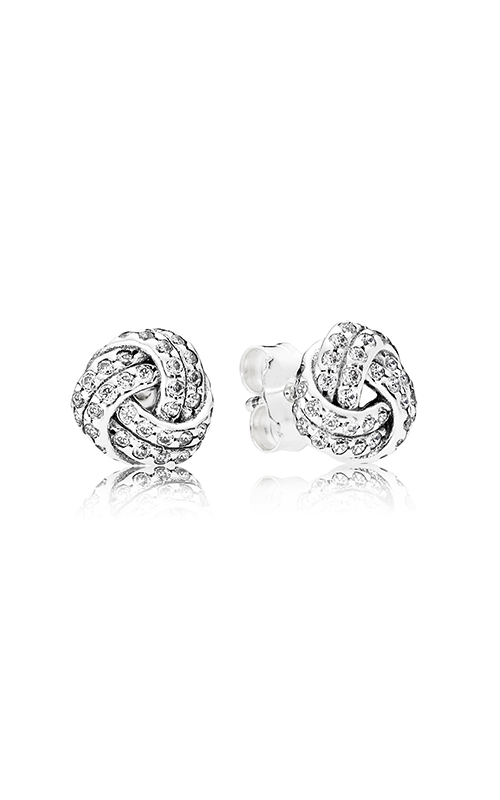 Pandora Sparkling Love Knots Clear CZ Earrings 290696CZ product image
