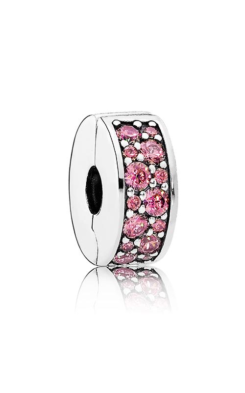 PANDORA Shining Elegance Clip Honeysuckle Pink CZ 791817HCZ product image