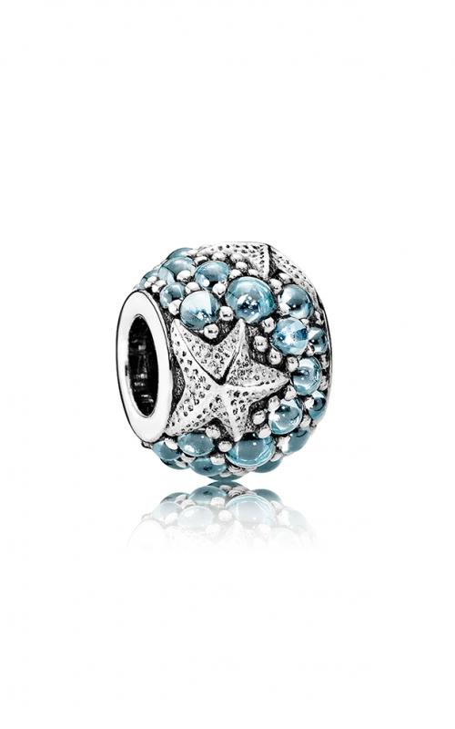 Pandora Oceanic Starfish Charm Frosty Mint CZ 791905CZF product image