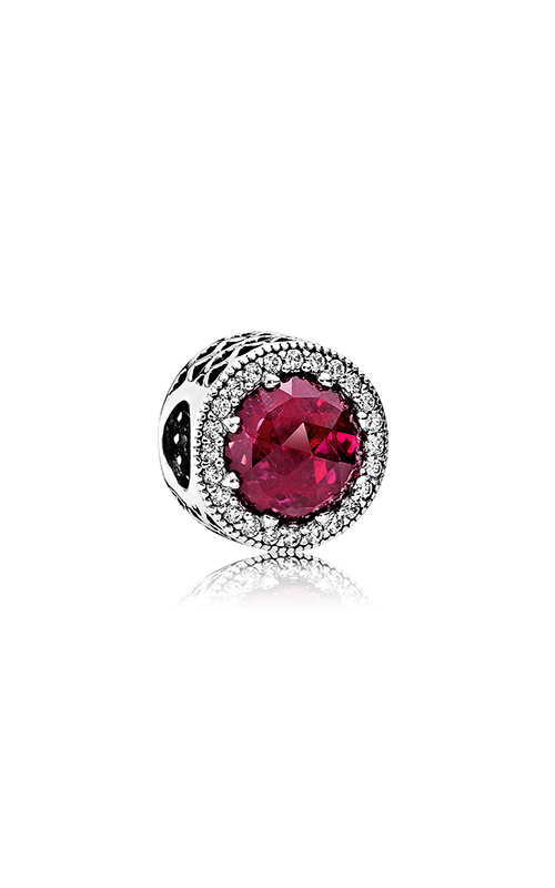 PANDORA Radiant Hearts Cerise Crystal & Clear CZ Charm 791725NCC product image