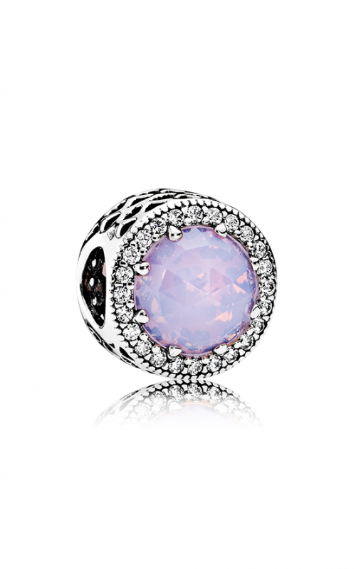 PANDORA Radiant Hearts Opalescent Pink Crystal & Clear CZ Charm 791725NOP product image