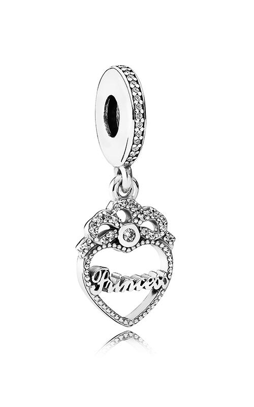PANDORA Princess Crown Heart Dangle Charm Clear CZ 791962CZ product image