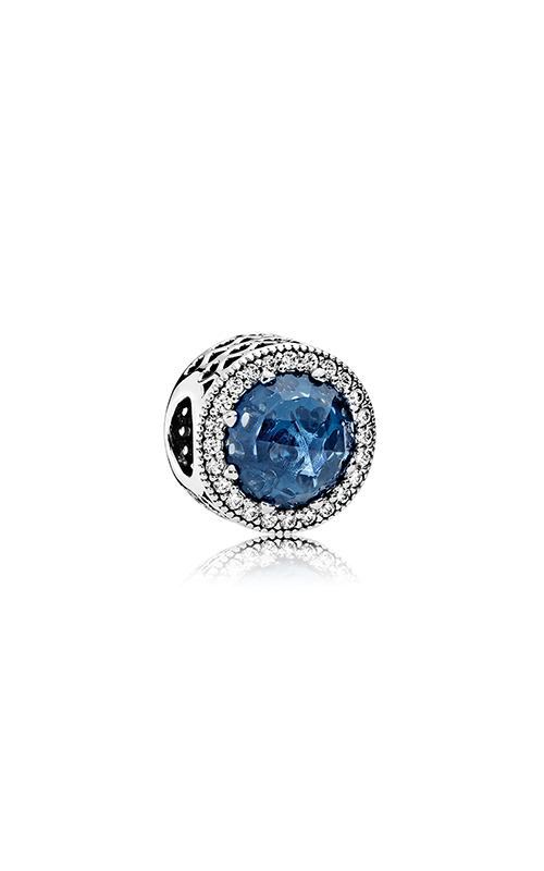 PANDORA Radiant Hearts Moonlight Blue Crystal & Clear CZ Charm 791725NMB product image