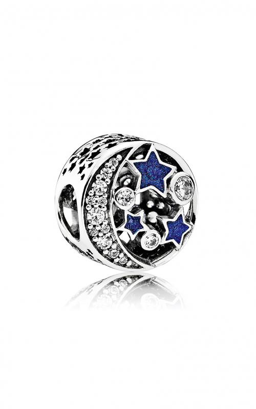 Pandora Vintage Night Sky Charm Shimmering Midnight Blue Enamel & Clear CZ 791992CZ product image