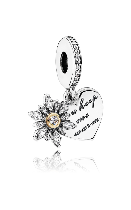 PANDORA Snowflake Heart Dangle Charm Clear CZ 792012CZ product image
