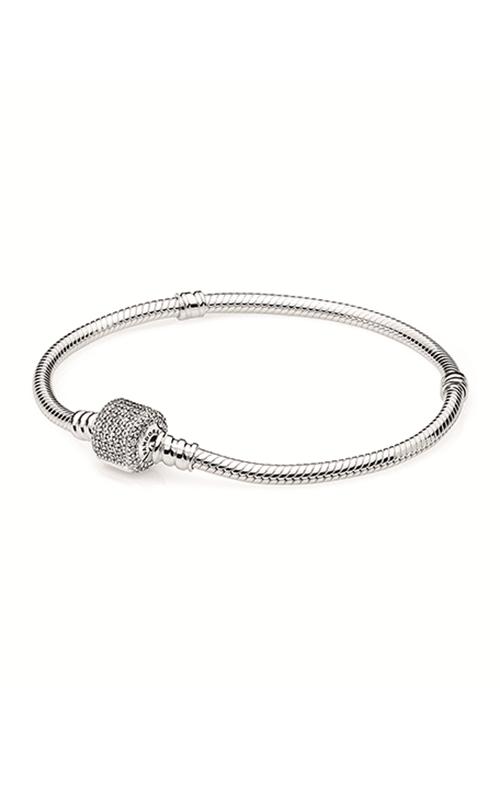 PANDORA Sterling Silver Bracelet w/Signature Clasp CZ 590723CZ-19 product image