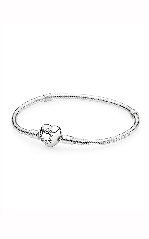 PANDORA Silver Charm Bracelet with Heart Clasp 590719-17 product image