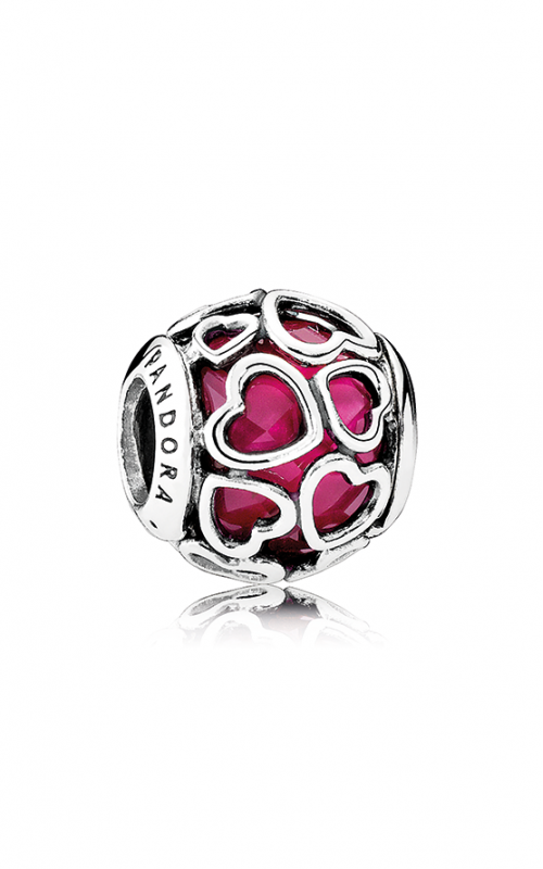 PANDORA Cerise Encased in Love Charm Cerise Crystal 792036NCC product image