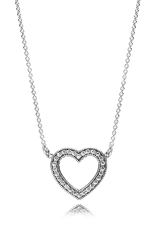 e614525bf PANDORA Loving Hearts of PANDORA Clear CZ Necklace 590534CZ-45 product image