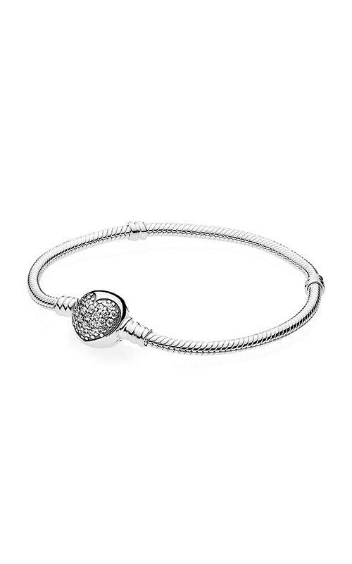 PANDORA Sparkling Heart Clear CZ Bracelet 590743CZ-19 product image