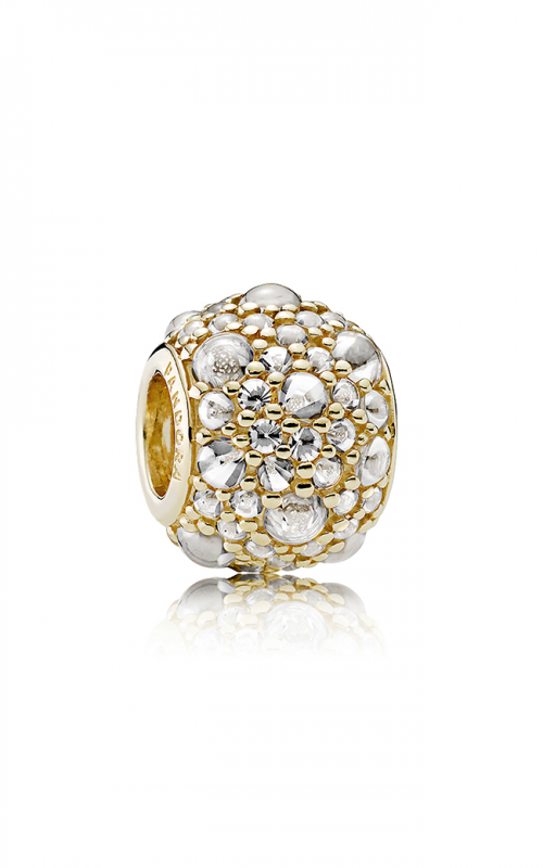 PANDORA Shimmering Droplets Charm 14K Gold & Clear CZ 751000CZ product image