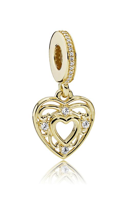PANDORA Romantic Heart Dangle Charm Clear CZ 751001CZ product image