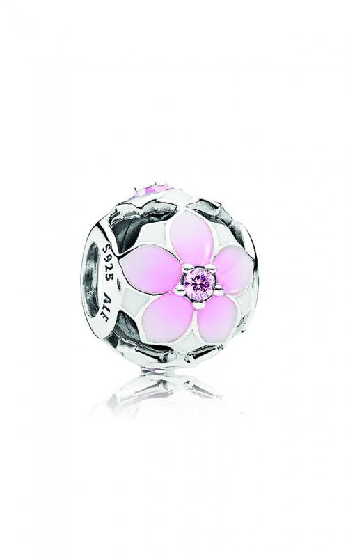PANDORA Magnolia Bloom Charm Pale Cerise Enamel & Pink CZ 792087PCZ product image