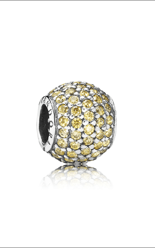 PANDORA Pave Lights Fancy Golden Colored CZ Charm 791051FCZ product image