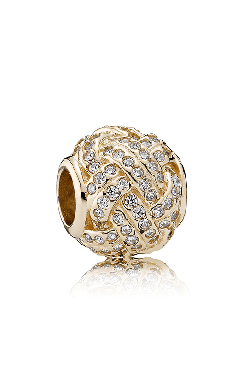 Pandora Sparkling Love Knot 14K Gold & Clear CZ Charm 750991CZ product image