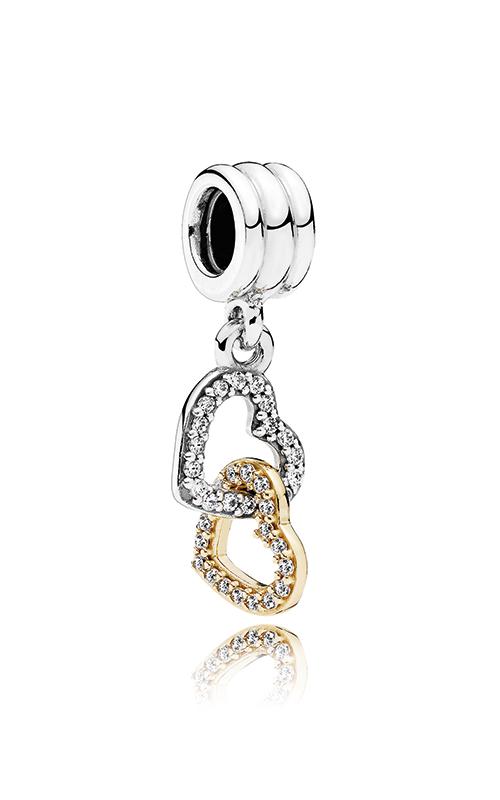 PANDORA Interlocked Hearts Dangle Charm 792068CZ product image
